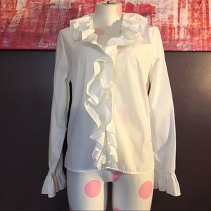 Lauren Jeans Company Button Up Shirt White Sz M